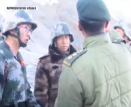 雙方軍方高層當面對談,但仍沒有解決爭議。(圖取自微博)