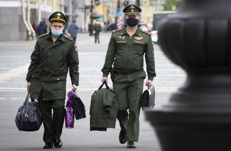 俄羅斯國防部公佈,有近1500名軍人確診武漢肺炎。(美聯社)