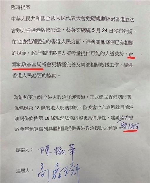 時代力量立委陳椒華25日在立法院財政委員會提出臨時提案,竟以中共口吻稱我國政府為「台灣執政黨當局」,消息一出,遭到民進黨立委及台灣網友強烈批判。(記者陳鈺馥翻攝)