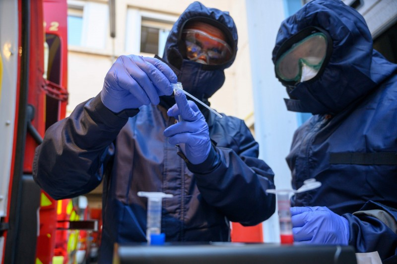 專家警告,武漢肺炎疫情過後恐出現「生物恐怖主義」。圖為示意圖。(法新社)