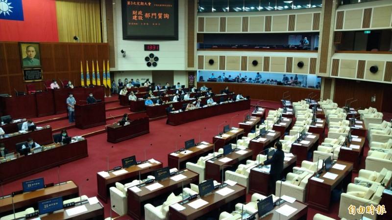 台北市議會財建部門質詢。(記者蔡亞樺攝)