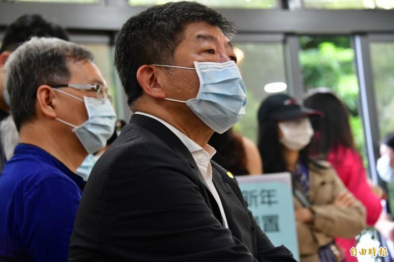 台灣民意基金會今召開最新民調發表會,國人對於衛福部長陳時中的感情溫度高達87.78度,且交叉分析後可發現,有91.9%的人對陳時中有好感,僅1.4%表示反感。(資料照)