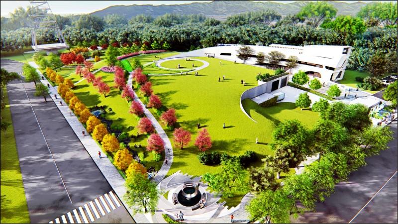 A7水資源回收中心水處理設施地下化,地面打造供休憩景觀公園。 (桃園市政府水務局提供)