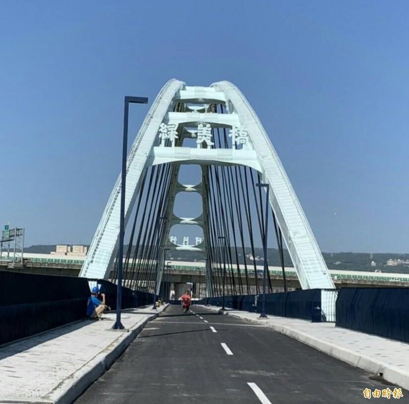南投地標綠美橋整修後日前開放通行。(資料照)