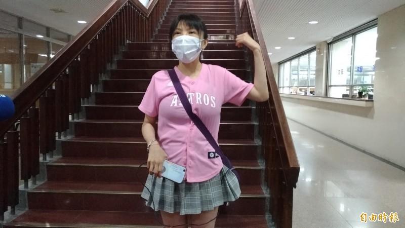 劉樂妍(見圖)涉替藍營賄選遭起訴,台北地院今開庭,但她並未到庭。(資料照,記者吳政峰攝)