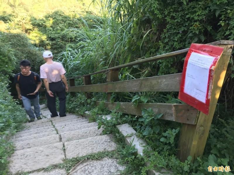 鳳崎落日步道局部路段將因施工受到影響,嚴重處還將封閉至少半個月。(記者黃美珠攝)