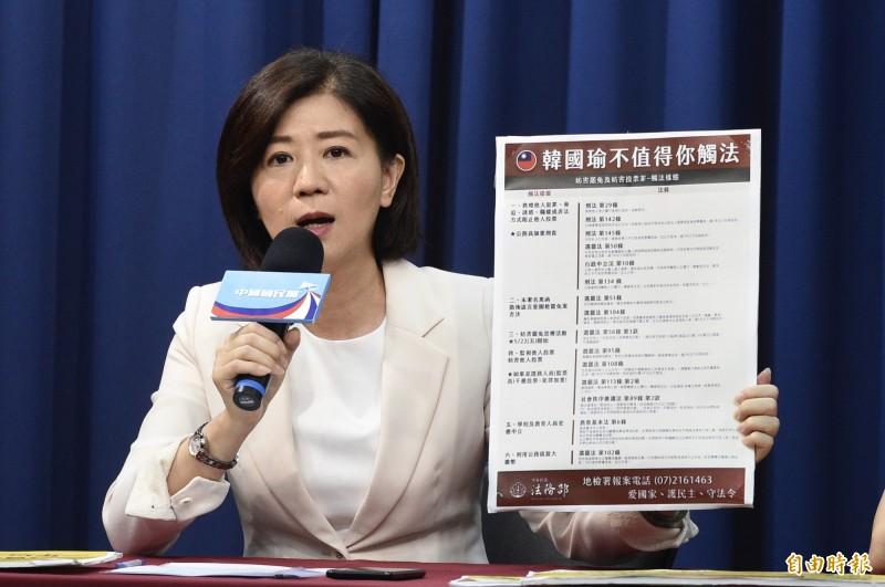 距離高雄市長韓國瑜罷免案投票剩下最後一週,國民黨文傳會主委王育敏今表示,前立法院長王金平是國民黨員,相信王院長的高度,會在關鍵時刻站在國民黨這邊。(資料照)