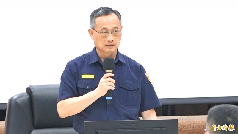 National Police Agency Director-General Chen Ja-chin speaks in an undated photograph.  Photo: Lee Hui-chou, Taipei Times