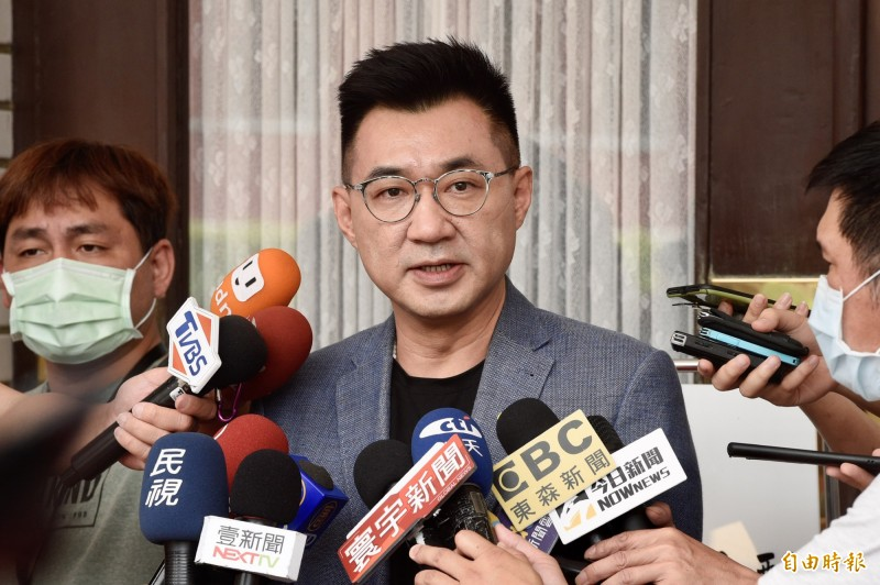 國民黨主席江啟臣今懇求高雄鄉親投票前,再給韓國瑜一次機會。(資料照)
