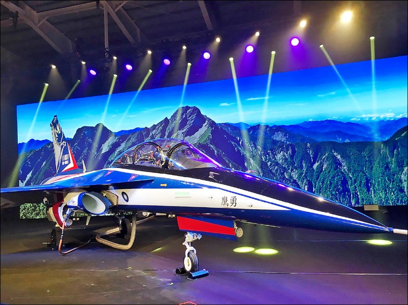 國造「勇鷹」高教機原型機預計在下月首飛,若飛行順利,明年將啟動小批量生產。(資料照)