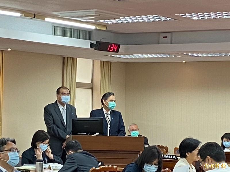 「港版國安法」今天將在中國全國人大會議表決通過,總統蔡英文昨提出「人道救援行動方案」,陸委會主委陳明通今天提出方案的4大指導原則。(記者鍾麗華攝)