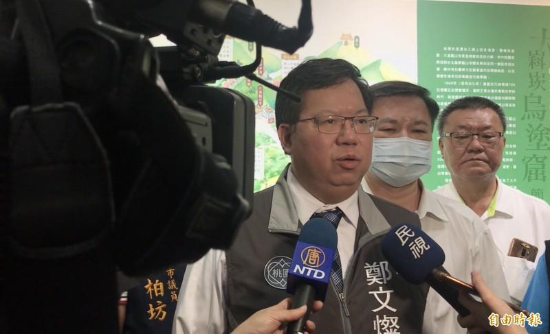 鄭文燦表示台灣要具體的挺香港,將來會有更多香港居民選擇來台。(記者李容萍攝)