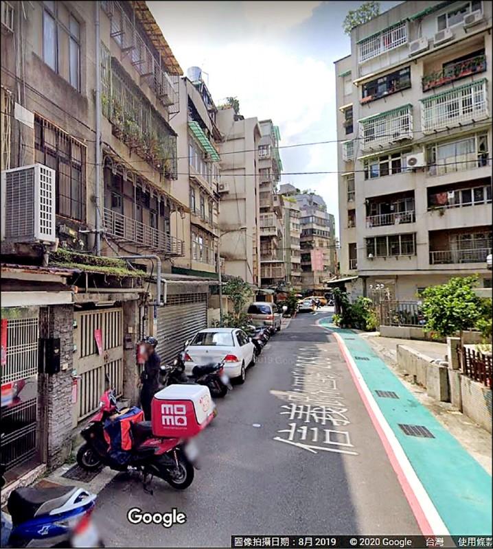 台北市信義路四段此巷內出現「私人招待所」攬客陪酒,夜夜笙歌,出入份子複雜,住戶苦不堪言。(翻攝Google)