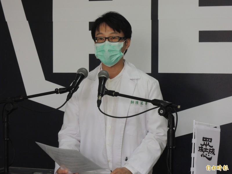 罷韓領銜人陳冠榮呼籲韓國瑜尊重民意。(記者王榮祥攝)