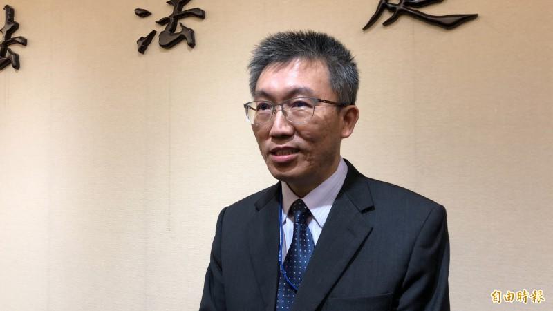 台北地院法官林孟皇,今對於通姦除罪化的結果表示滿意。(記者錢利忠攝)