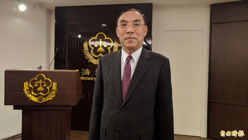 法務部長蔡清祥認為刑罰是立法機關的形成自由,不是司法機關解釋的範疇。(記者吳政峰攝)