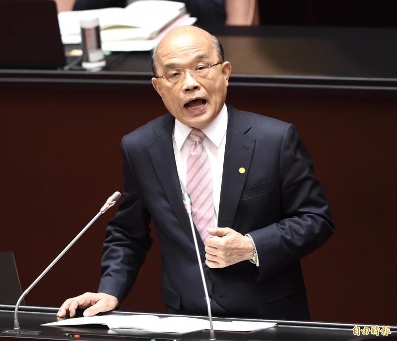 行政院長蘇貞昌今赴立法院報告施政方針。(記者簡榮豐攝)