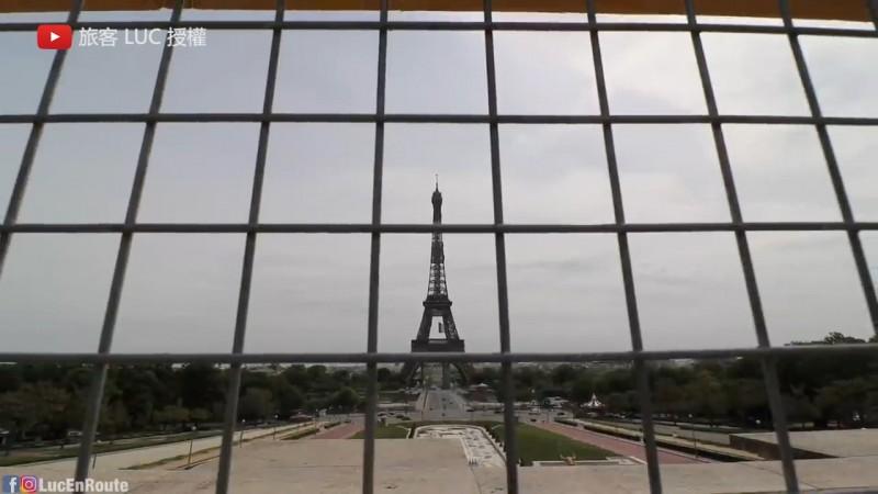 旅法台人表示巴黎就像被封印了。(YouTube 旅客 LUC 授權)