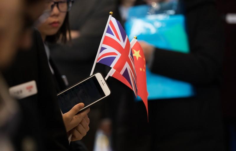英國政府正制定計畫減少對中國依賴程度。(彭博)