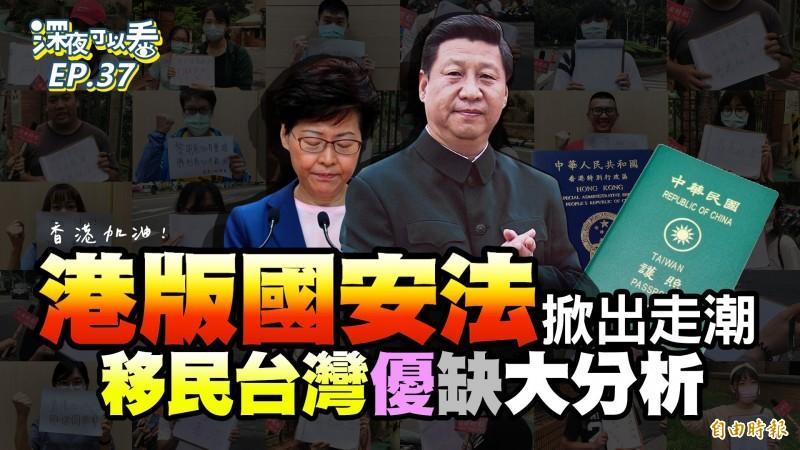 港版國安法掀起移民潮,「台灣」也登上香港熱搜,可見台灣是移民熱門選項。(影音製圖)