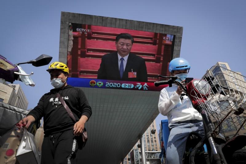 中國全國人大昨日以壓倒性票數通過港版國安法。(美聯社)