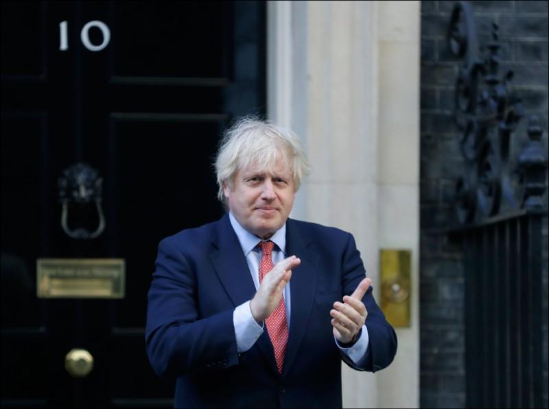 英國首相強森要在二○二三年前將華為完全從英國5G建設中排除。 (美聯社)