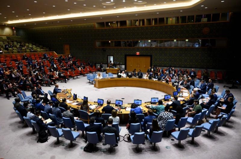 聯合國安理會15個成員國,29日透過視訊談論香港局勢。圖為安理會過去開會畫面。(法新社檔案照)