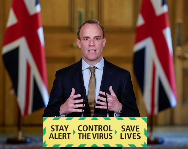 英國外交大臣拉布(見圖)今日表示,英國絕不會逃避對香港人民的責任,也不會漠視中國對港的威脅。(路透檔案照)