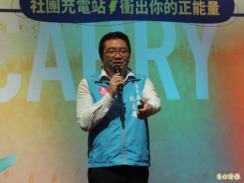 高市青年局長林鼎超說明社團補助計畫內容。(記者王榮祥攝)