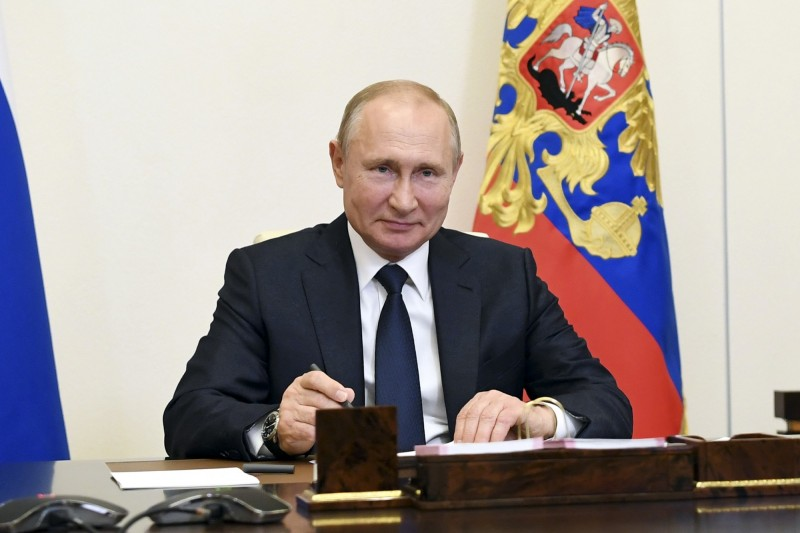 俄羅斯總統普廷將7月1日定為修憲案公投的全國投票日,該法案可讓他的總統任期延長到2036年。(美聯社)