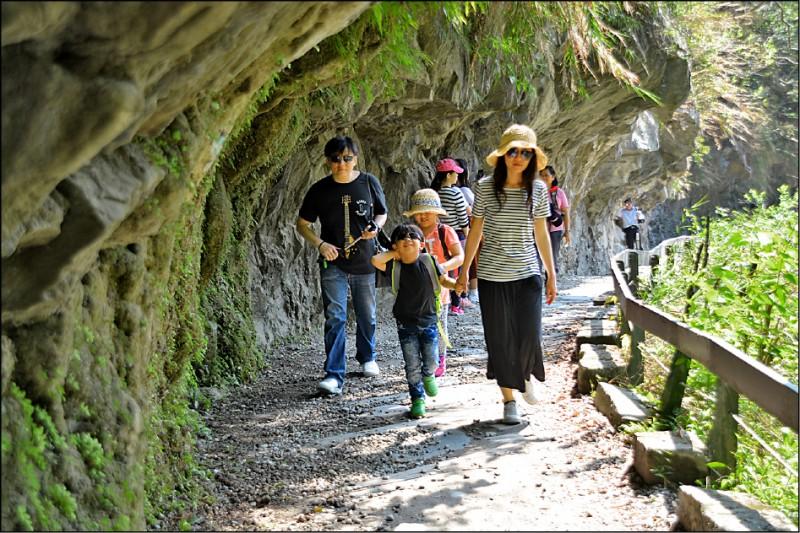 太魯閣國家公園砂卡礑步道。(資料照)