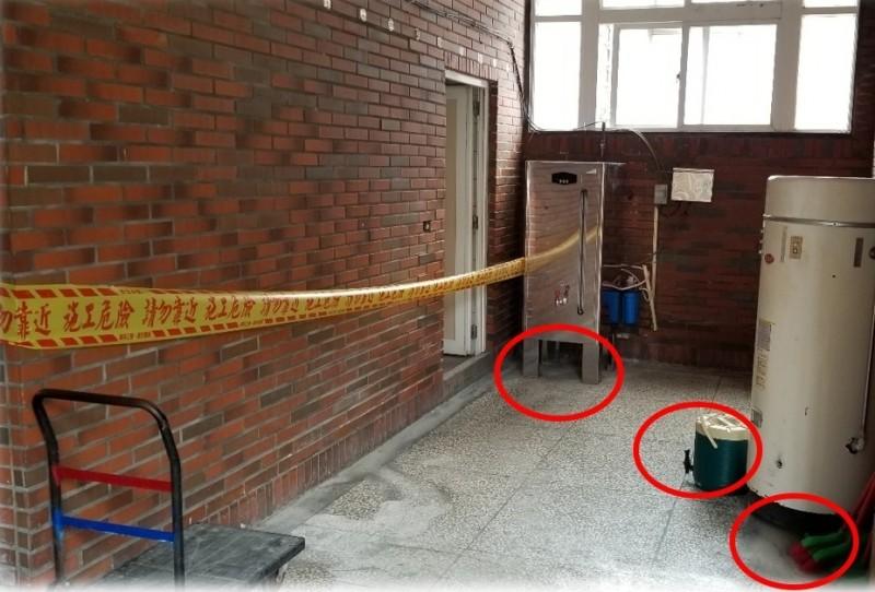 明陽中學教導員和管理員把違禁品藏在飲水機等隱匿處。(記者黃佳琳翻攝)