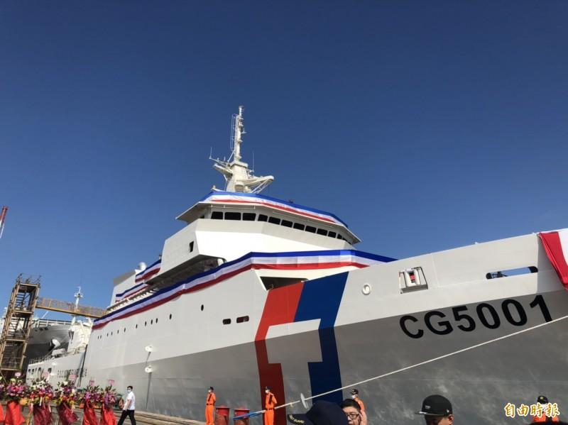 國防MIT》海巡首艘4000噸巡防艦今下水 蔡總統命名「嘉義艦」