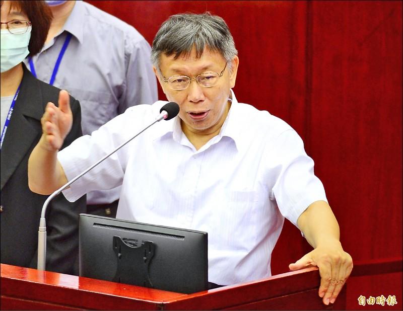 針對罷韓,台北市長柯文哲只表示「不會落井下石」。(記者王藝菘攝)