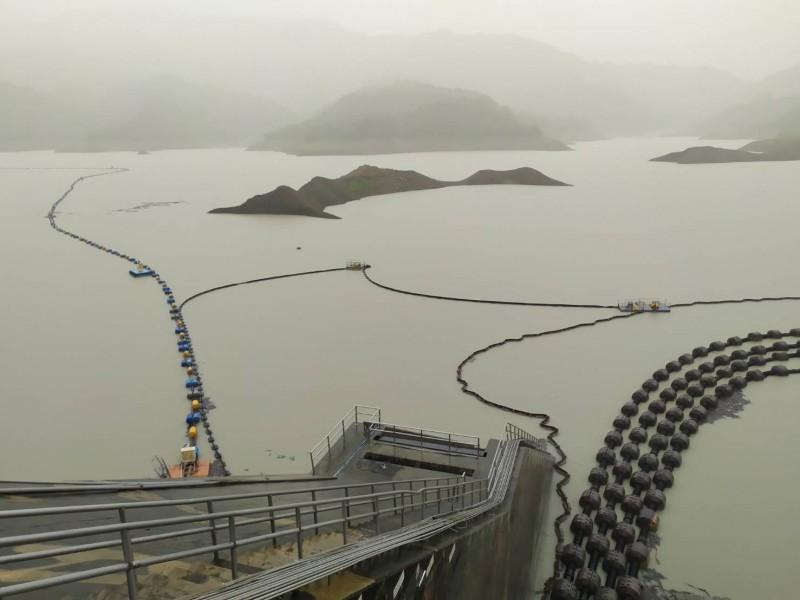南化水庫在上一波梅雨有豐沛水量進帳。(資料照,記者王俊忠翻攝)