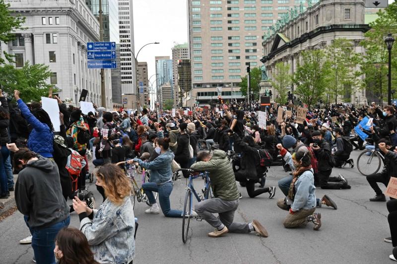 加拿大第二大城蒙特婁有數千民眾走上街頭,希望政府正視種族歧視、暴力執法問題。(法新社資料照)