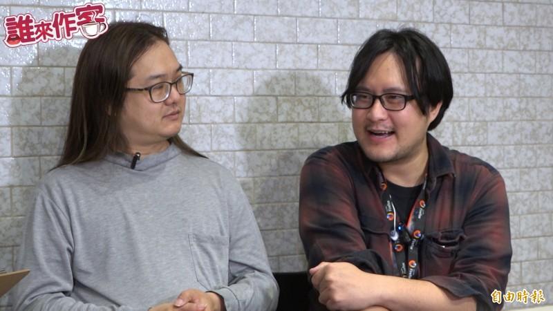 兩人編輯維基百科已15年,陳瑞霖(右)分享踏入維基世界的契機。(影音製圖)