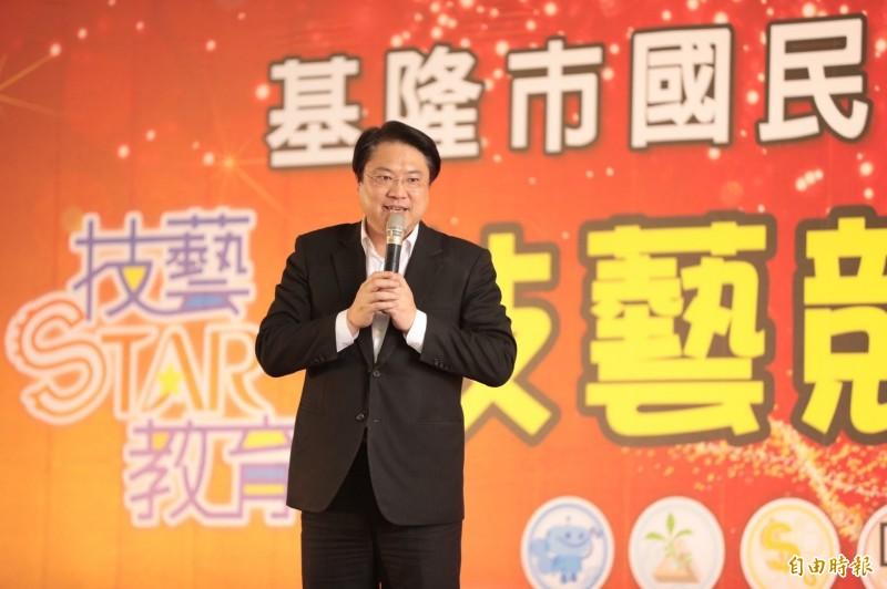 林右昌說,如果自由民主是我們共同的價值與信仰,就應該團結一心,守護台灣的主權、自由與民主,讓自由的台灣撐香港的自由。(記者林欣漢攝)