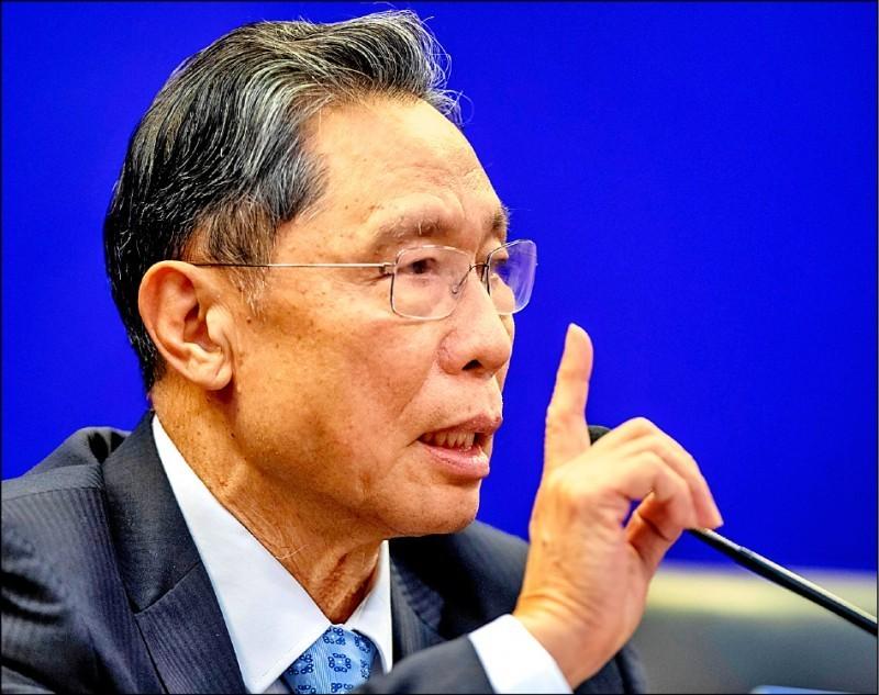 現任中國國家衛生健康委員會高級別專家組組長鍾南山。(歐新社資料照)