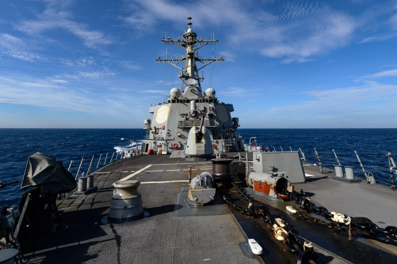 美國海軍第七艦隊今天凌晨透過社群媒體發布「伯克級」驅逐艦羅素號(USS RUSSELL DDG-59)穿越台灣海峽的訊息。(翻攝自美國海軍第七艦隊臉書)