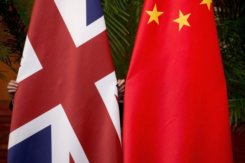 「香港版國安法」引起中國和英國激烈交鋒。(路透檔案照)