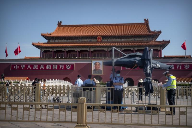 六四天安門事件31週年,美方籲中國正視事件。圖為北京天安門。(美聯社)