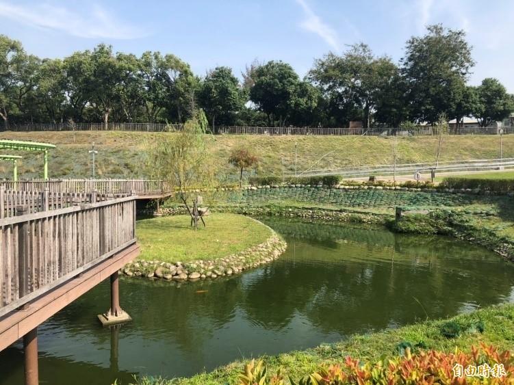 太平國運中心設置坪林森林公園內,將融入坪林森林公園地景設計。(記者蘇金鳳攝)