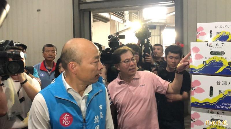 罷韓投票今揭曉,韓國瑜表示妻子、女兒有給他打氣。(記者許麗娟攝)