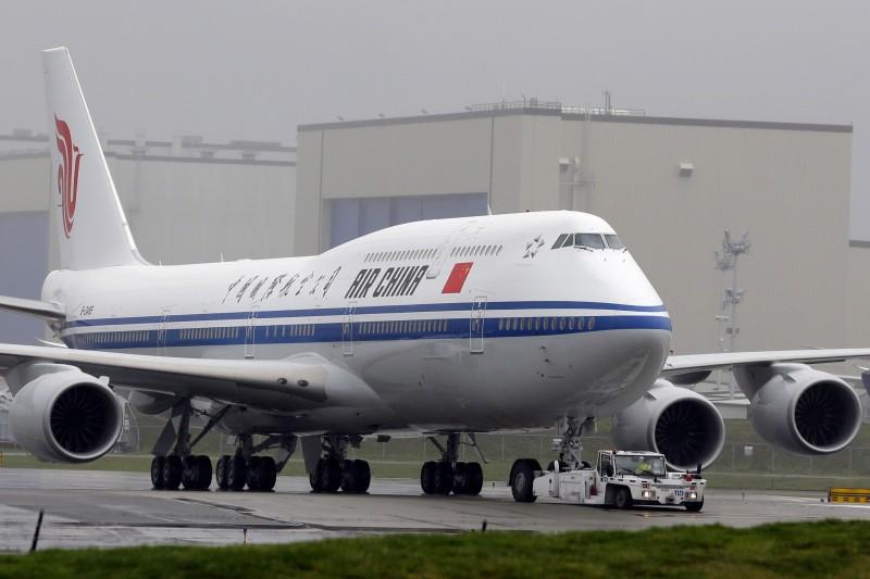 中國航空的班機。(美聯社資料照)