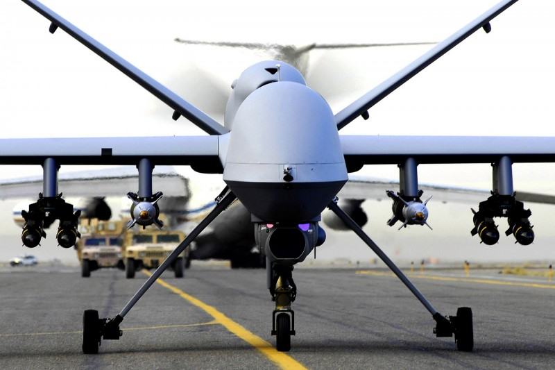 美國空軍3日發佈公開資訊徵詢書(RFI),開啟MQ-9死神無人機的汰換計畫,預計2030年完成系統平台交付,2031年正式服役,圖為MQ-9死神無人機。(美聯社)
