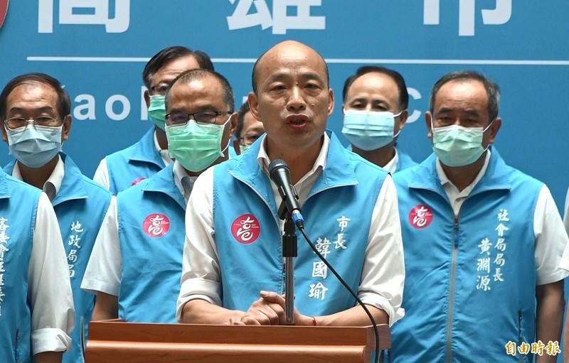 國民黨務人士今天表示,黨中央不建議韓國瑜提罷免無效訴訟,應正面迎戰市長補選一役,展現態度;韓陣營人士也指出,提訴訟機率低,會配合黨中央。(記者李惠洲攝)