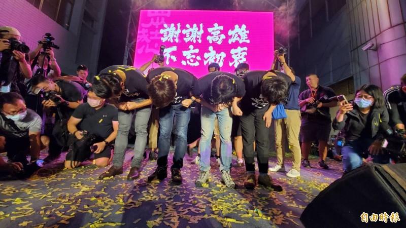 高雄市長罷免案今天通過,是台灣首次直轄市長被民眾罷免。(記者張忠義攝)