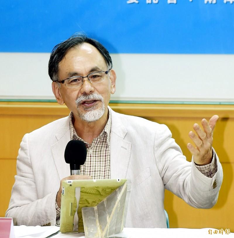 林濁水(見圖)表示,把韓國瑜撩撥的恨意有多大,反彈的恨意就有多強。(資料照)