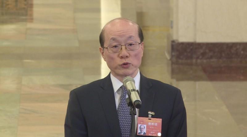 劉結一(見圖)稱對台關係嚴峻,呼籲台灣民眾共同抵制民進黨。(中央社檔案照)